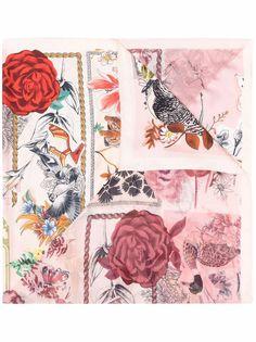 Salvatore Ferragamo платок с графичным принтом