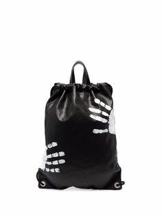 Maison Margiela рюкзак с кулиской и принтом