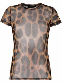 Philipp Plein футболка с леопардовым принтом