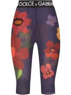Dolce & Gabbana прозрачные шорты с цветочным принтом