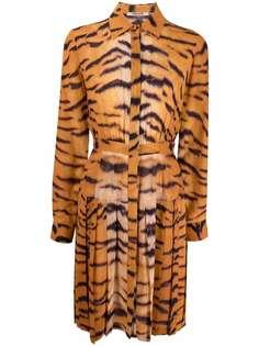 Roberto Cavalli платье-рубашка с принтом