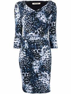 Roberto Cavalli платье с принтом Wild Indigo