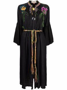 A.N.G.E.L.O. Vintage Cult платье миди 1990-х годов с вышивкой