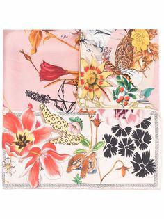 Salvatore Ferragamo платок с цветочной вышивкой