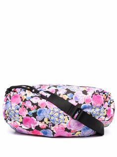 GANNI сумка с кулиской и цветочным принтом