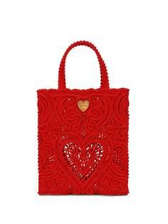 Dolce & Gabbana маленькая сумка-тоут Beatrice в технике кроше