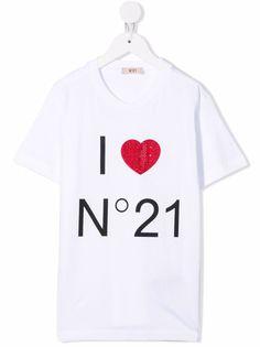 Nº21 Kids футболка со стразами