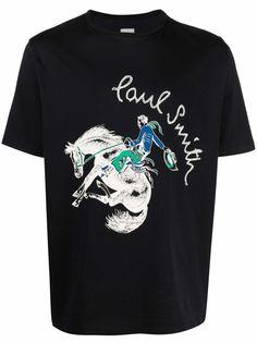 PAUL SMITH футболка с логотипом и принтом