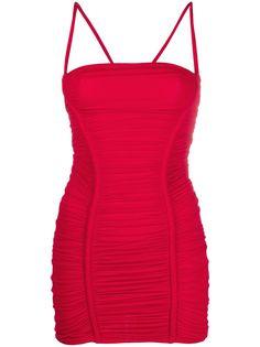 Dsquared2 приталенное платье мини со сборками