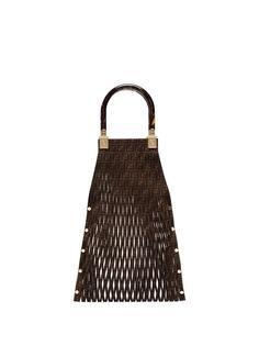 Fendi плетеная сумка-тоут Sunny с логотипом FF