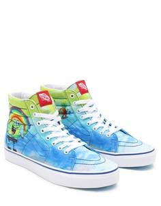 Разноцветные высокие кроссовки Vans X Spongebob SK8-Hi Imagination-Multi