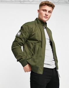 Зеленая куртка Харрингтон Pretty Green Derwent-Зеленый цвет