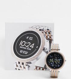 Женские спортивные смарт-часы с темно-синим циферблатом Michael Kors Gen 5 MKT5129-Серебристый