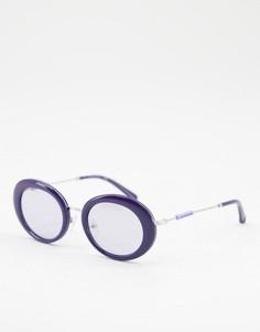 Черные круглые солнцезащитные очки Calvin Klein Jeans-Черный