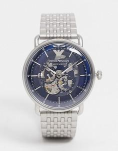 Мужские серебристые часы «авиатор» с браслетом Emporio Armani-Серебристый