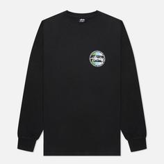 Мужской лонгслив Stussy Classic Dot Pigment Dyed, цвет чёрный, размер M