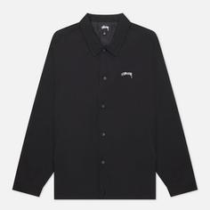 Мужская куртка ветровка Stussy Classic Embroidered Coach, цвет чёрный, размер XL