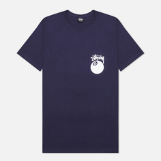 Мужская футболка Stussy 8 Ball Graphic Art, цвет синий, размер XL