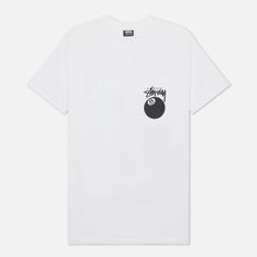 Мужская футболка Stussy 8 Ball Graphic Art, цвет белый, размер XS