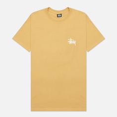 Мужская футболка Stussy SS Basic Stussy, цвет коричневый, размер S