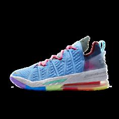 """Баскетбольные кроссовки LeBron 18 """"Best 1-9"""" - Синий Nike"""