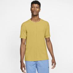 Мужская футболка с коротким рукавом Nike Yoga Dri-FIT - Желтый