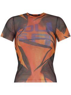 Louisa Ballou прозрачная футболка с графичным принтом