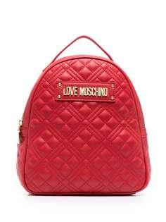 Love Moschino стеганый рюкзак из искусственной кожи