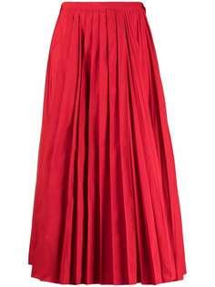 Valentino плиссированная юбка миди