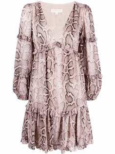 Michael Michael Kors платье мини со змеиным принтом