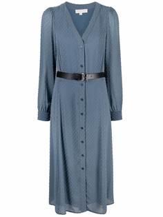 Michael Michael Kors платье миди с длинными рукавами и поясом