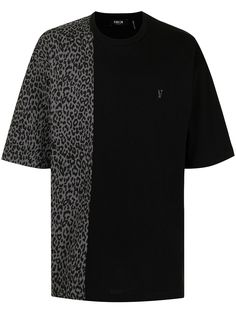 FIVE CM футболка оверсайз с леопардовым принтом