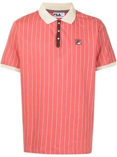 Fila рубашка поло в тонкую полоску с нашивкой-логотипом