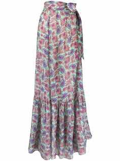 Etro юбка с завышенной талией и принтом пейсли