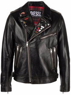 Diesel байкерская куртка Treated