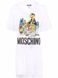 Moschino платье с капюшоном из коллаборации с Sesame Street©