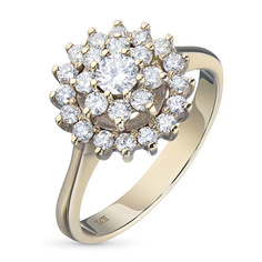 Кольцо из золота с бриллиантами э0201кц07163600 ЭПЛ Якутские Бриллианты