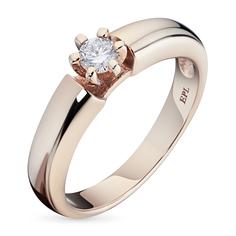 Кольцо из золота с бриллиантом э0201кц08070700 ЭПЛ Якутские Бриллианты
