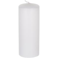 Декоративная свеча Wenzel Velours белая 6х15 см