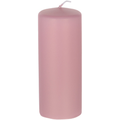 Декоративная свеча Wenzel Velours розовая 6х15 см