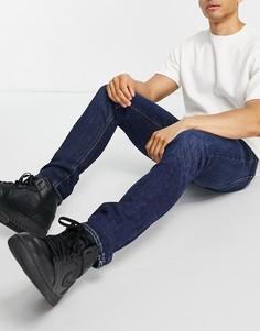 Зауженные темно-синие джинсы Lee Luke-Голубой