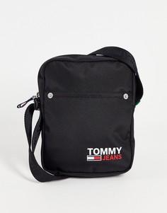 Черная сумка для полетов с маленьким логотипом Tommy Jeans-Черный цвет