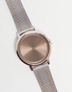 Часы с сетчатым ремешком Tommy Hilfiger Pippa-Серебристый