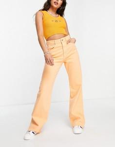 Оранжевые выбеленные винтажные джинсы в стиле 90-х Stradivarius-Оранжевый цвет