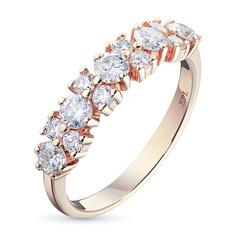 Кольцо из золота с бриллиантами э0201кц12142100 ЭПЛ Якутские Бриллианты