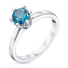 Кольцо из серебра с топазом э0609кц04201896 ЭПЛ Якутские Бриллианты