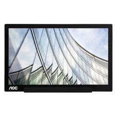 """Монитор AOC Style I1601FWUX 15.6"""", черный и серебристый/черный"""