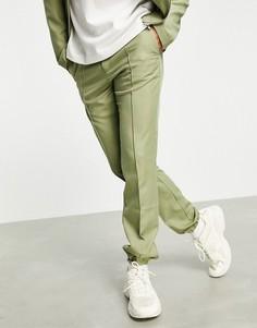 Черные узкие джоггеры в строгом стиле от комплекта ASOS DESIGN-Зеленый цвет