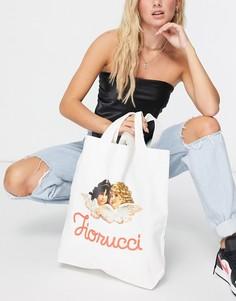 Белая сумка-тоут с винтажным логотипом с ангелочками Fiorucci-Белый