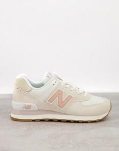 Светлые кроссовки New Balance 574-Белый
